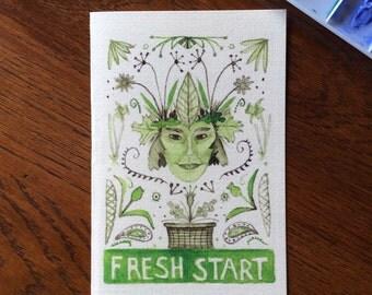 Fresh Start greeting card