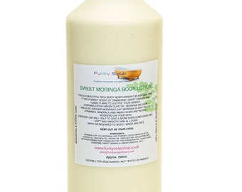 1 bottle Sweet Moringa Body Lotion, Natural healthy and Handmade, Approx 500g