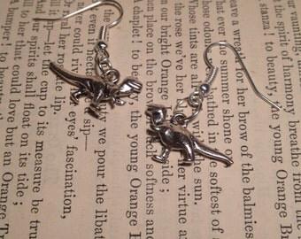 Dinosaur pendant earrings