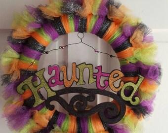 Haunted Halloween Tulle Wreath