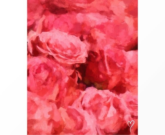 "Rose Art, Signed Original Fine Art Print, Home Decor, Flower Art, Pink Wall Decor ""Forever Yours"""