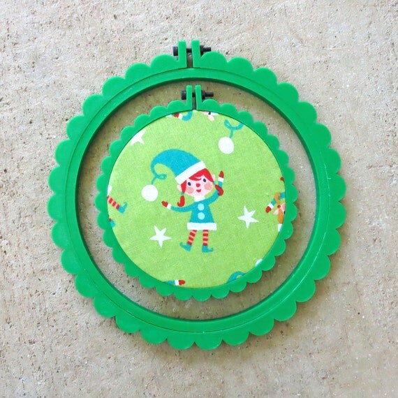 Green 3D Printed Scalloped Embroidery Hoop