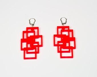 Acrylic Earrings Cub