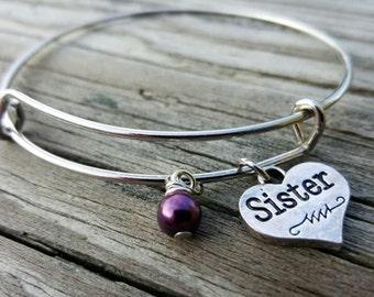 Sister Bangle Bracelet - Sister Gift