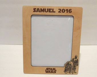 star wars 5x7 or 8x10 your choice picture frame personalized frame childs name frame - Disney Photo Frame