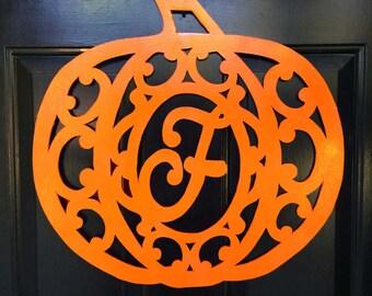 Harvest Halloween Pumpkin Door Decoration