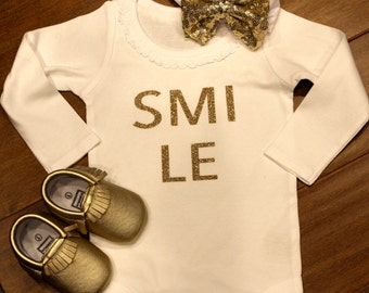 SMILE t shirt, SMILE bodysuit, SMILE onesie, Smile shirt, smile onesie, smile clothing