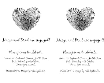 Printable, customisable - Engagement party invitation