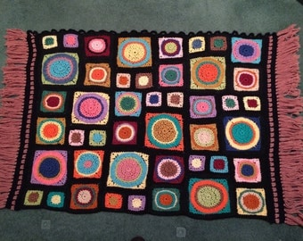 Colorful Granny Square Wall Hanging