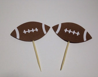 25 Football Cupcakes/Food  Toppers . Birthday party . Baby Shower . Any Occasion .