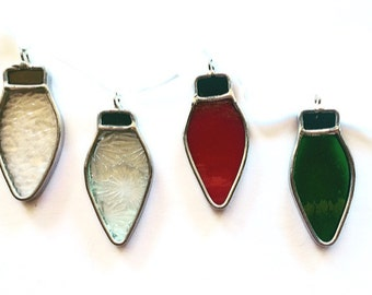 Stained Glass Christmas Lights (4 Pack)