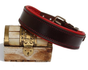 Hand Made Dog Collar (Bridle Leather/ Elk Leather)