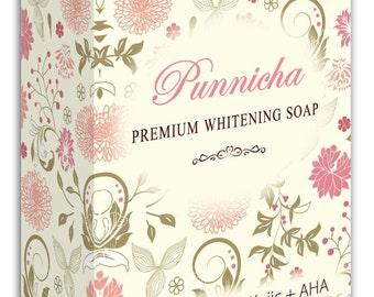 Punnicha Whitening Soap, Lighten your skin in 1 week, Natural Herbal Handmade Soap