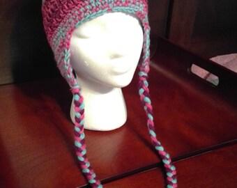 Women's Earflap Hat - crochet
