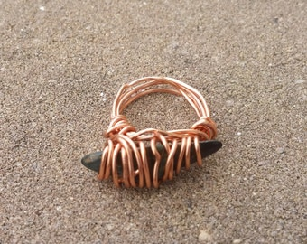 Rose Gold Wire Wrapped Pinky Ring (Size 4)