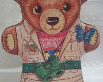 Adorable Ranger Bear Shaped Collectible Tin - L@@K
