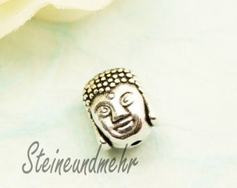 2 x Buddha bead silver plated art. 1787