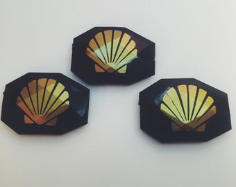 Black and Gold Sea Shells