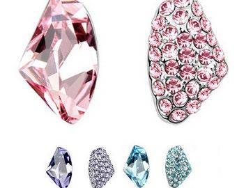 Unique Austrian Crystal Stud Earrings