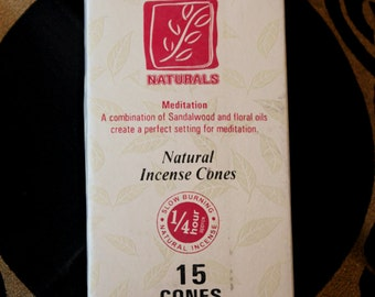 Incense cone of forest Naturals meditation