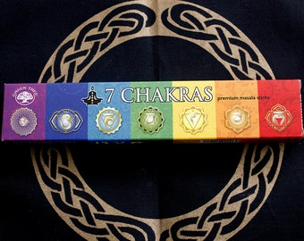 Incense sticks 7 chakras with holder
