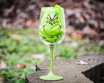 Grinch wine glass, Grinch, Wine Glass, How the Grinch Stole Christmas