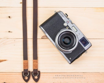 Genuine Cow Leather Camera Strap HandMade for Fuji Sony Olympus Nikon Canon