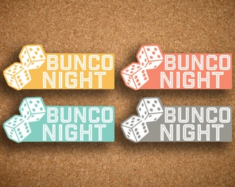 Bunco Night Planner Stickers for Inkwell Press Planner IWP-LBN1