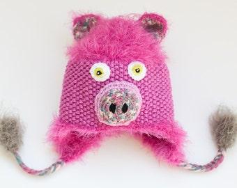 Pig hat, Piggy hat, Piglet hat, Animal hat, Piglet Costume, Animal Costume, Baby present, Photo prop, Cute baby hat, Newborn present