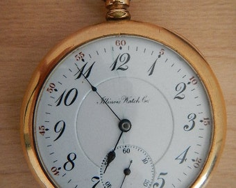 """Antaique Pocket Watch, made in 1911, by """"Illinois Watch Co"""""""