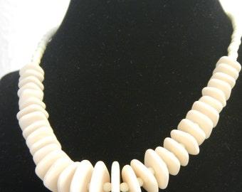 Vintage Necklace, cream color.
