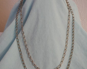 2 Large Similar Vintage Chains