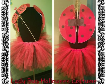 Lady Bug Tutu Costume