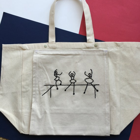 bag dancers / / sports bag / / hand embroidery / / bag yoga / / bag pilate / / cotton tote / / transport of the floor mat
