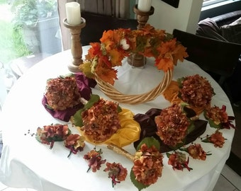 Rustic silk flower bouquet etsy for Fall wedding bouquets for sale