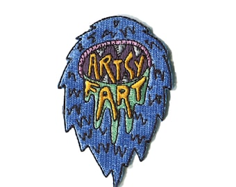 Artsy Fart Iron on Yetti Patch