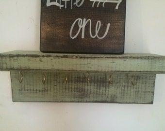 rustic shelf/ jewelry/storage organizer