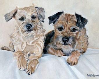 "Giclée Print On Fine Art Paper Of Original Painting ""Katie & Jake"" Painted By Award-Winning Artist Ingrid Lockowandt"
