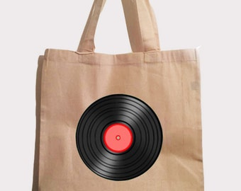 vinyl record tote bag perfect for holding records