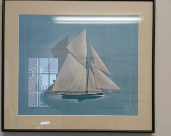 Set of 5 Ship ( Schooner)  Prints by John McCurey
