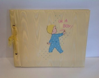 """Vintage Gibson Baby Journal """" I'm A Boy"""" 1950's Journal"""