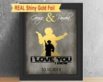 Boyfriend Gift, Star Wars I Love You I Know, Valentines Gift For Him, Star Wars Wedding Gift, Anniversary Gifts For Men, I Love You I Know