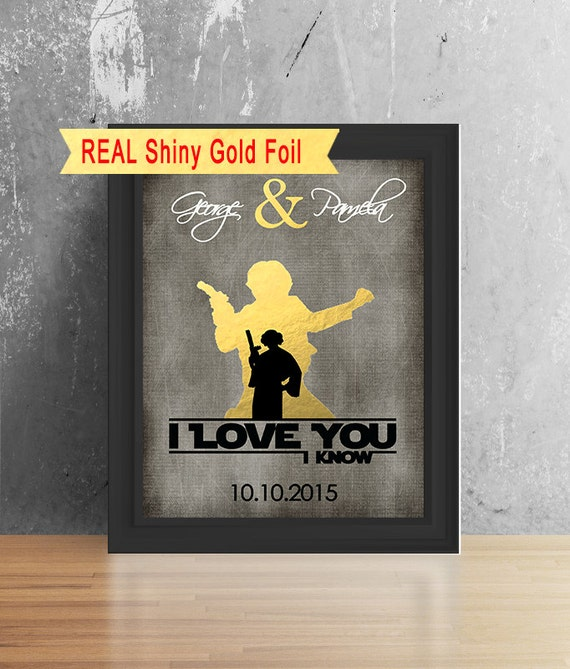 Star Wars Wedding Gifts: Boyfriend Gift Star Wars I Love You I Know Valentines Gift
