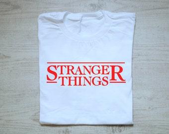 Stranger things tee t-shirt shirt adult unisex soft cotton shirt tee men's t-shirt women's t-shirt boho Stranger things shirt white