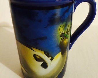Retired Tall Blue Mickey Mouse FireFly Mug