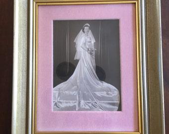 Vintage Wedding Dress Framed Photograph