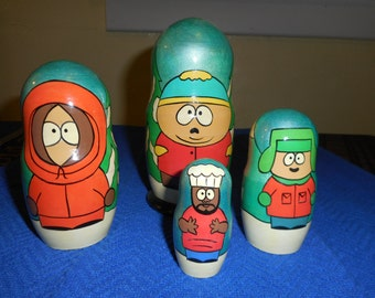 South Park Russian Nesting Dolls  L@@K!!   Babushka Dolls