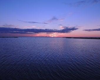 Ocean photography, sea print, sunset art, seascape decor