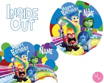 Inside Out Personalised Edible Image Real Icing Cake Topper Large A4