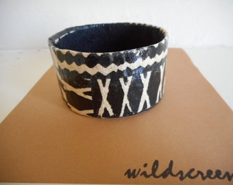 Bracelet cuff, made locally from recycled materials, tribal, safari, jungle theme